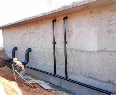 污水成套设备安装现场